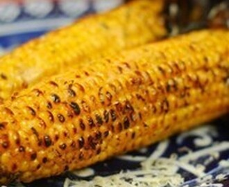 Grilled corn with coconut lime butter and pepper jack cheese Recipe