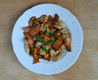 Süßkartoffel-Hähnchen Pfanne / Roasted sweet potato and chicken