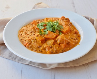 Süßkartoffel Linsen Curry