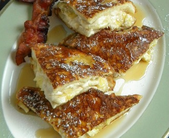 Banana & Cream Cheese Stuffed French Toast