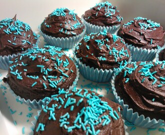 Glutenfria Mint Chocolate Cupcakes