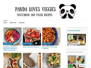 Panda loves veggies