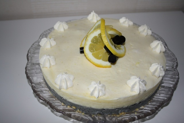 Cheesecake med citron & lakrits