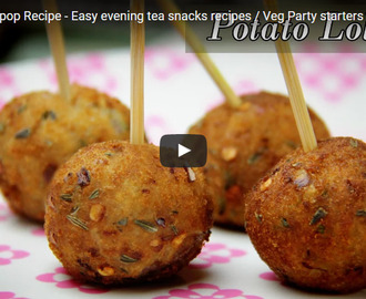 Potato Lollipop Recipe Video