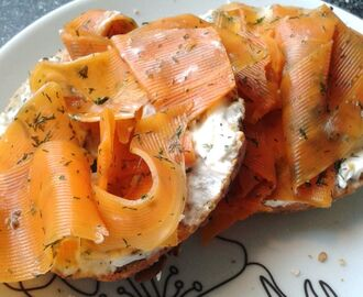 Vegan lox. Gravad lax/Smoked salmon (Swe and Eng)
