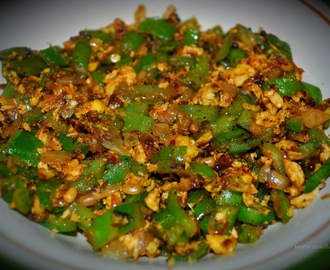 Peerkangai muttai poriyal / Ridge gourd egg stir fry
