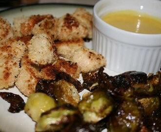 Recipes 73-75:  Chicken Nuggets, Honey Mustard Sauce, Roasted Brussels Sprouts
