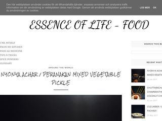 Essence of Life - Food