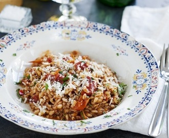 Farro all'arrabiata