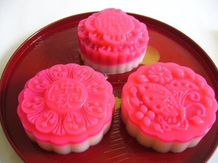 Red Bean Paste Jelly Mooncakes
