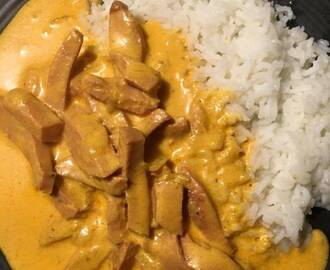 Korvstroganoff med curry