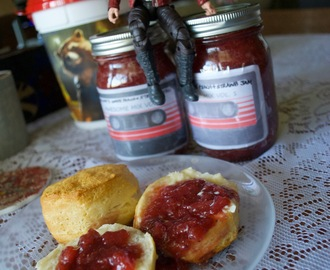 Marvel: Star Lord's Awesome White Peach & Strawberry Jam + Jam Tart