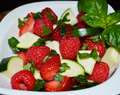 Vegetable-Fruit Salad: Berries with Zucchini and Basil
