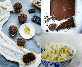 Muffins di riso, miglio e cioccolato / Muffins with rice flour, pearl millet and chocolate