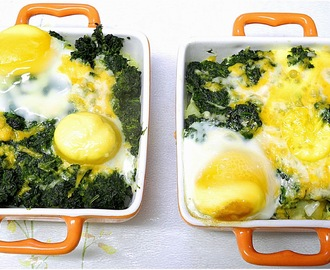 Potato, Spinach, Egg Bake