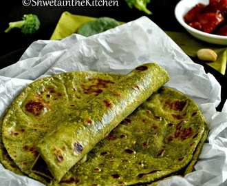 Green Roti - Spinach Broccoli Pistachio Roti - Green Chapati - Green Indian Flatbread