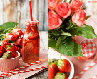 [drinks...] Strawberry Rose Ice Tea