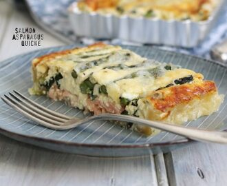 Smoked Salmon & Green Asparagus Quiche