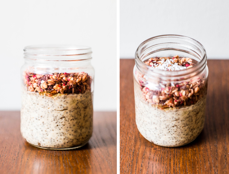 Chia pudding with banana and peanutbutter;