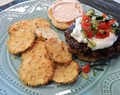 Mouthwatering Mediterranean Burgers and Zucchini Chips