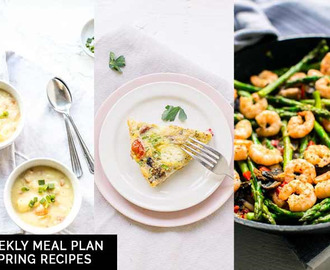 Weekly meal plan: Spring recipes
