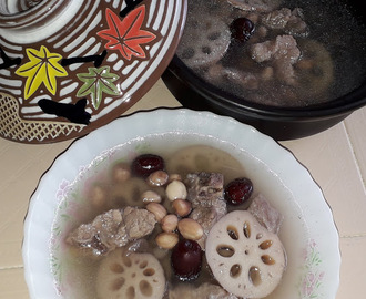 PEANUTS LOTUS ROOT PORK RIBS SOUP [莲藕汤]