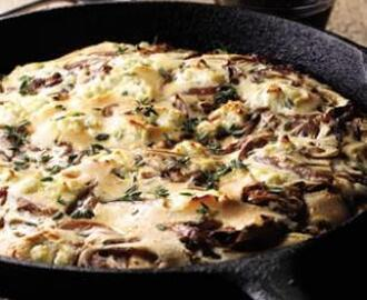 Red Onion & Goat Cheese Pancake