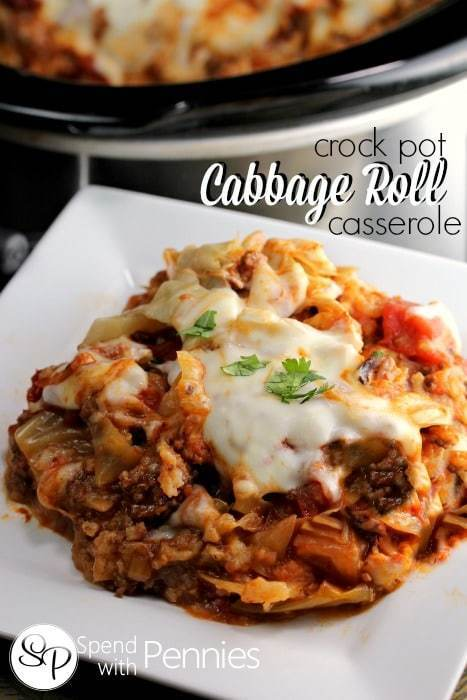 Cabbage Roll Casserole (Crock Pot Version!)!