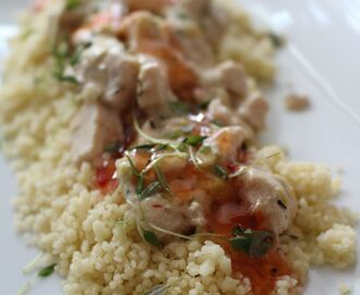 Kyckling sweet chili med couscous