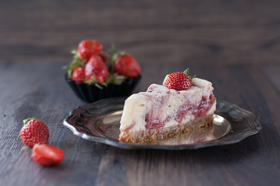 Aus Eis mach Kuchen: Strawberry Cheesecake