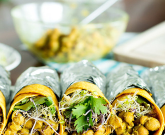 Vegan Curry Wraps