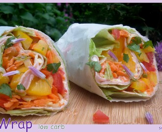 Bester low carb Wrap mit Salat