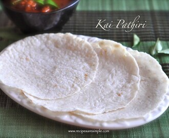Kai Pathiri – with grated Coconut
