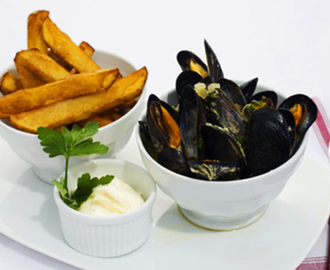 Moules Frites med limeaioli