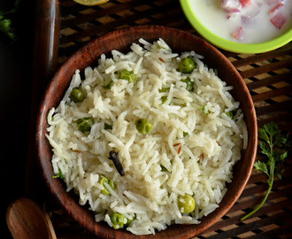 Peas Pulav | Green Peas Pulao | Matar Pulao Recipe | How to make Matar Pulav