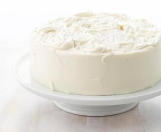 Almond Layer Cake with White Chocolate Frosting