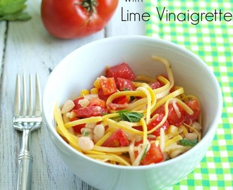 Summer Squash Noodle Salad with Lime Vinaigrette