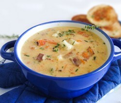 Чаудер с тыквой и треской (Chowder with Pumpkin and Cod)