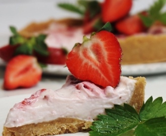 Strawberry cheesecake - enkel cheesecake