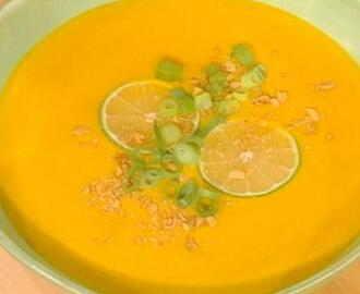 Cold Curried Carrot and Coconut Milk Soup