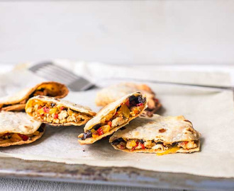 Oven baked chicken quesadillas