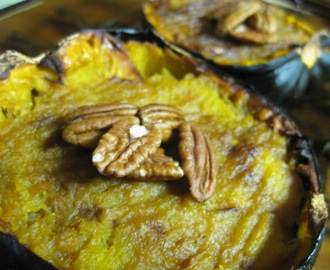 Twice-Baked Honey Nut Acorn Squash