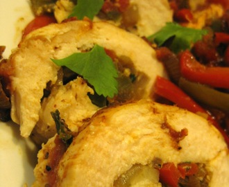 Vegetable Fajita-Stuffed Chicken