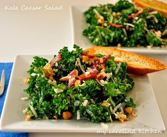 Kale Caesar Salad with Smoky Bacon and Cashews - A Fresh New Spin on a Classic