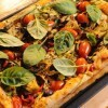 Tray Bake Vegetarian Pizza