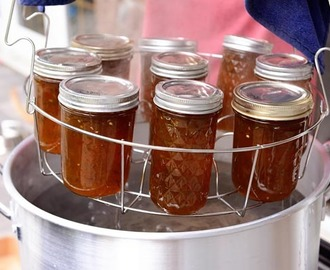 Jalapeno Jelly {a.k.a. Hot Pepper Jelly} Plus a Step-by-Step Canning Tutorial