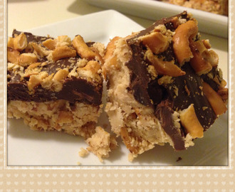 No-Bake Sweet & Salty Peanut Butter Bars