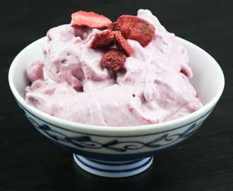 Strawberry Protein Soft Ice Cream