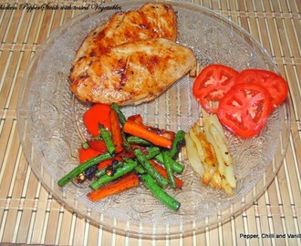 Chicken Steak with tossed Vegetables.