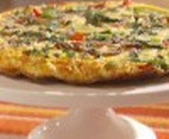 Cheese, Vegetable and Bacon Frittata